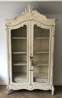 Original late 18th century French painted Armoire