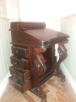 Antique Carved Davenport Desk