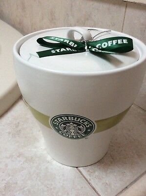 Rare Vintage Starbuck's  Large Coffee/cookie Cannister W/ Mermaid Logo On Front