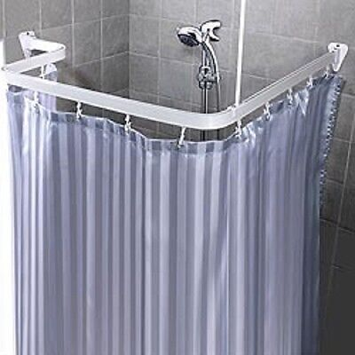Bendable Shower Curtain Rod Flexible Curve Corner Custom Free Form Arch White