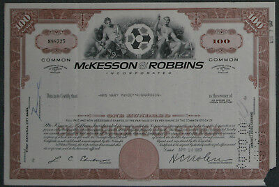 McKesson & Robbins, Incorporated 1967 100 Shares .