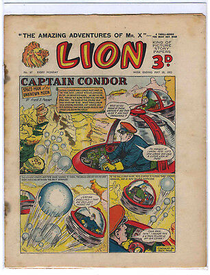 Lion 30th May 1953 (#67, high grade) Captain Condor, Amazing Advs of Mr X