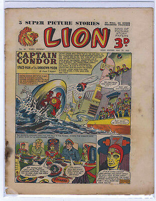 Lion 23rd May 1953 (#66, mid-grade) Captain Condor, Amazing Advs of Mr X