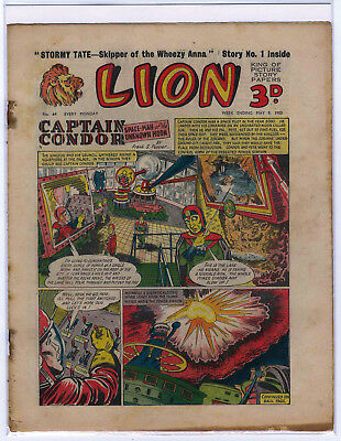 Lion 9th May 1953 (#64, mid-high grade) Captain Condor, Amazing Advs of Mr X