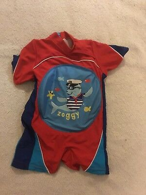 Zoggs 1-2 Years Swim Outfit With Blow Up Float In Built