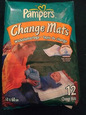 Pampers Change Mats. New. Pack Of 12. Disposable