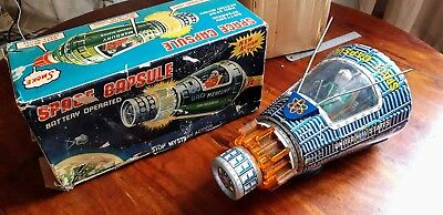 Space Capsule HORIKAWA Battery Made In Japan Old Toy Vintage