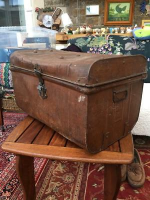 Vintage Tin Trunk - Travellers Chest/Steamer/Display/Shabby Chic/Storage/Blanket