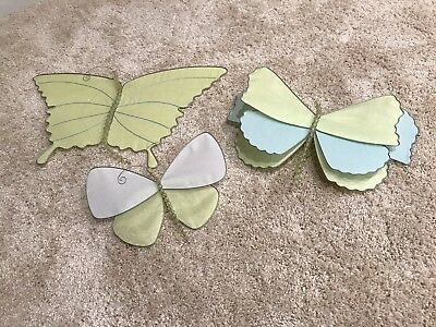 Pottery Barn Kids Hanging Fabric Butterfly Decorations (Set Of 3)