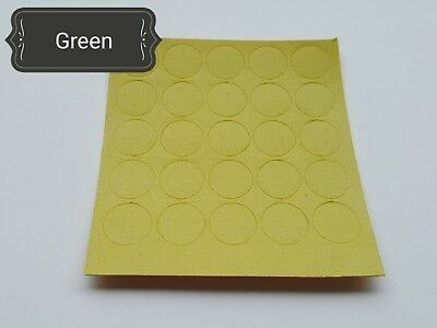 Green Color 14Mm Self Adhesive Furniture Fixing Screw Holes Cover Caps Stickers