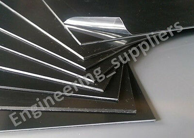 3mm A4 Black Polystyrene High Impact Plasticard HIPS Sheet Packs of 1, 3, 5 & 10