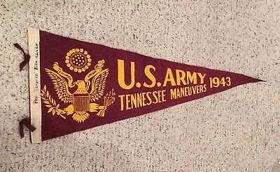WWII US Army 1943 Pennant