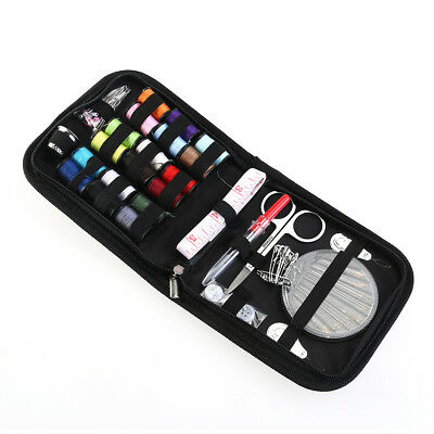 ROSENICE 58 Pcs Useful Travel Sewing Travel Accessories Kit with Blue Zipper Bag