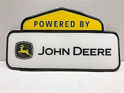 "John Deere Power Sign Poster Banner Decal Label 9"" Long"