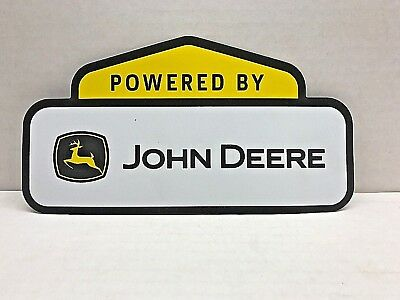 "John Deere Power Sign Poster Banner Label Magnet 9"" Long"