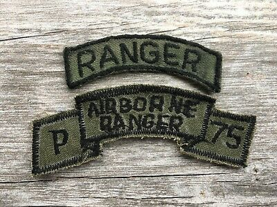 US Army Vietnam Ranger Scroll with Tab