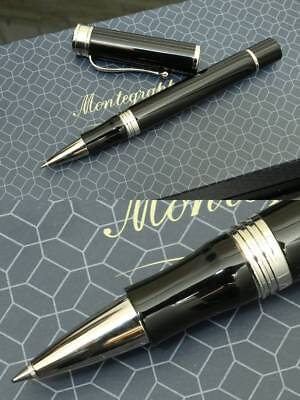 """Montegrappa """"DUCALE"""" Rollerball Pen, Palladium Plated MSRP 253 $"""
