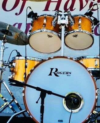 Rogers  XP8 and BigR Gold Sparkle 5 Piece Shell Pack w/ Mounting Hardware