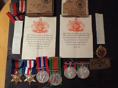 WW2 Husband (Royal Signals) and wife (ATS) Medal groups.