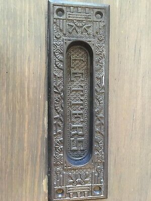 VIntage Blk. Metal Letter Mail Slot for Door Ornate RHC3 Windsor 334