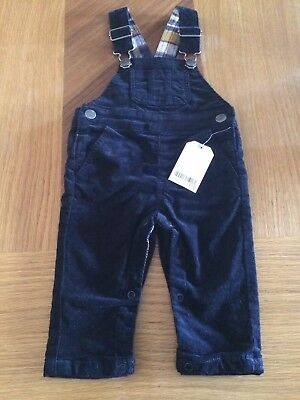 Boys Next Cord Dungarees 6-9 Months Bnwt