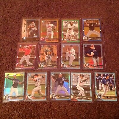 2018 Bowman Draft lot of (13) Serial #ed Parallels Casey Mize /250 Gold, Green +