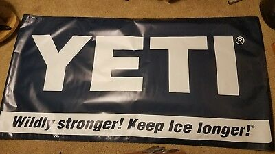 YETI Coolers Vinyl Banner Dealer Sign Mancave Advertising Garage Camping Sports