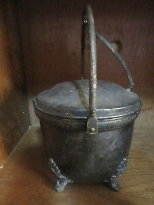 VINTAGE  Ice Bucket Bristol Silver plate EPCA by Poole Ornate Footed