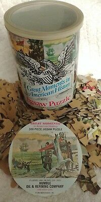 """Vintage 1969 Humble Oil """"Great Moments In American History"""" Jigsaw Puzzle"""