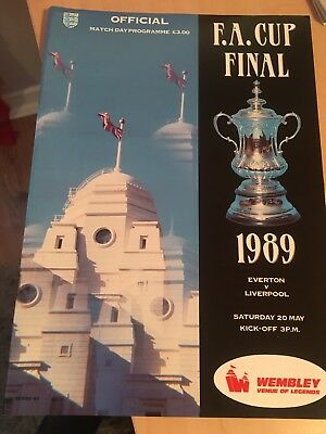 Everton v Liverpool FA Cup Final Football Programme From Season 1988-1989