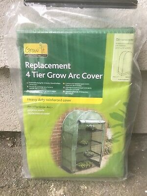 "Brand New Grow It / Gardman 4 Tier Grow Arc Covers W2'11"" X D1'5"" X H5'2"""