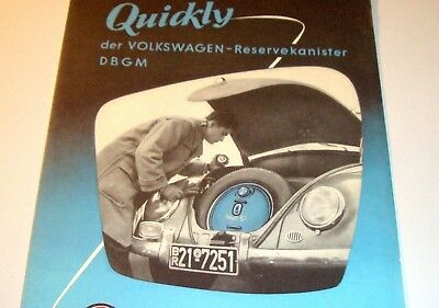 Prospekt Accessory VW Käfer Ovali Brezel Karmann Ghia BUS T1 oval bug Quickly