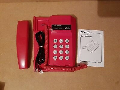 Vintage Retro Daewoo 80's DU2340 Amante Red Home Telephone