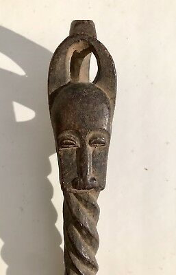 Antique African carved Wood Scepter, Good Age and Use Wear