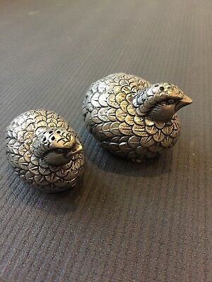 Rare Vintage Gucci Quail Salt and Pepper Shakers Made In Italy