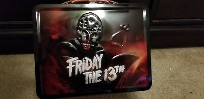 Friday The 13th Jason Voorhees Tin Tote Lunchbox Horror New