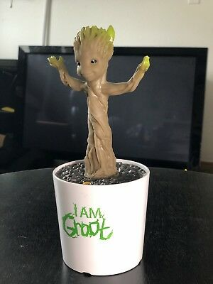 Mini Dancing Baby Groot Action Figure In Pot Guardians Of The Galaxy