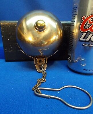 1800s Brass Door Bell with Outside Pull Chain, A++