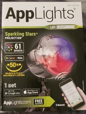 **NEW ** Applights Projection Stake Snow Flurry 61 Effects Christmas Decorations