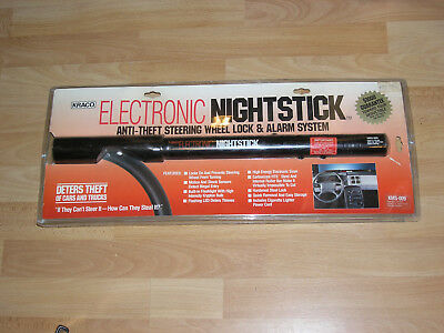 ELECTRONIC NIGHTSTICK -  car anti theft steering wheel lock, alarm and torch