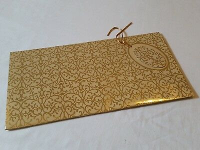60 Packs QUALITY GOLD FOIL WRAPPING PAPER JOB LOT + TAGS