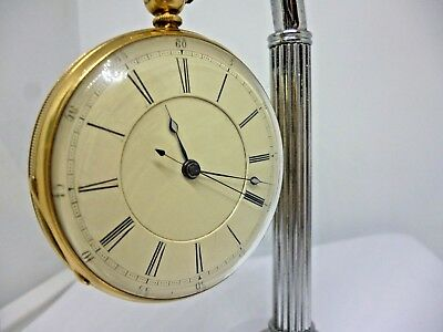 An Amazing 1850s solid 18ct gold chronostop fusee pocket watch simply beautiful