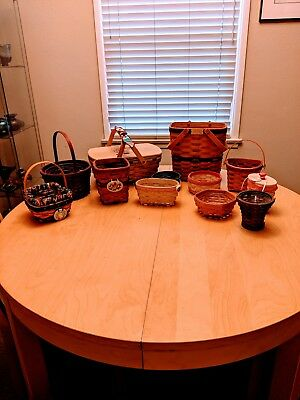 Lot of 12 Longaberger Baskets - Great Condition! Must See!