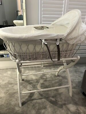 Moses basket and stand In Wicker-White (from John Lewis)
