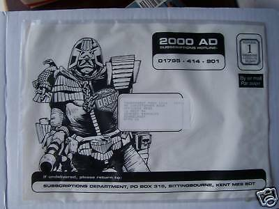 2000Ad Subs Envelope  Great Bit Of Memorabilia Judge Dredd