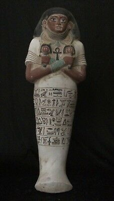 EGYPTIANT ANTIQUES ANCIENT EGYPT Ushabti Large STATUE SHABTI Rare Stone 2600 BC