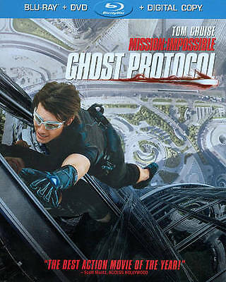 Mission: Impossible - Ghost Protocol (Blu-ray/DVD, 2012, 2-Disc Set, NR Free Shp