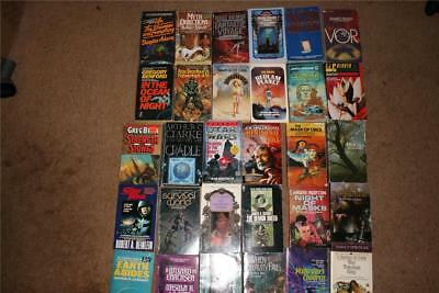 Science Fiction & Fantasy Lot of 30 Used Paperbacks