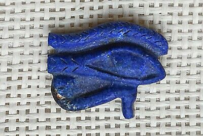 ANCIENT EGYPTIAN AMULET ANTIQUES the Eye of HORUS Natural LAPIS LAZULI STONE