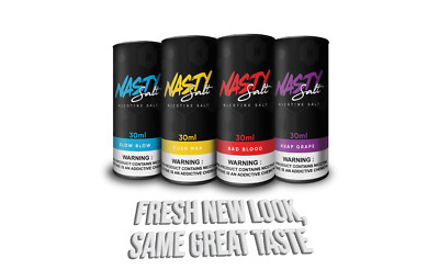 1Nasty Juice Salt (30mL) *ALL OPTIONS* 100% Authentic USA + Free Shipping